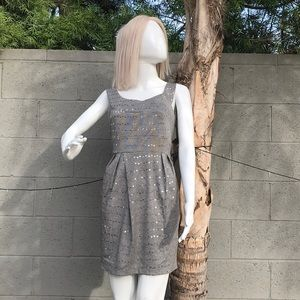 Ladies gray sexy party dress
